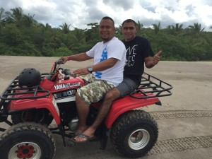 Luis (our driver) and Pastor Denis.