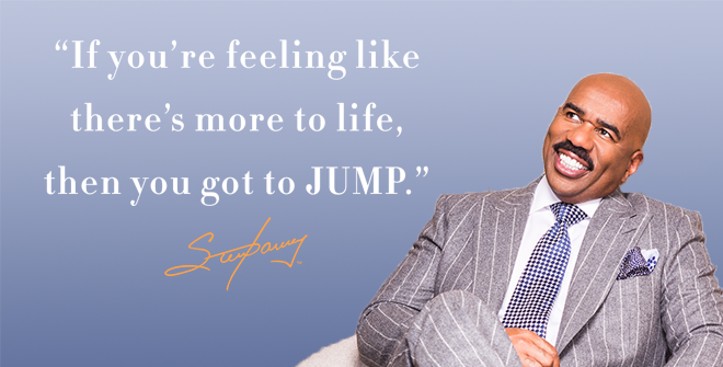 "Don't be afraid to ""JUMP"""